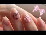 Коррекция гелевых ногтей. Нежный матовый дизайн с бантиками. Обзор гелей Cosmoprofi