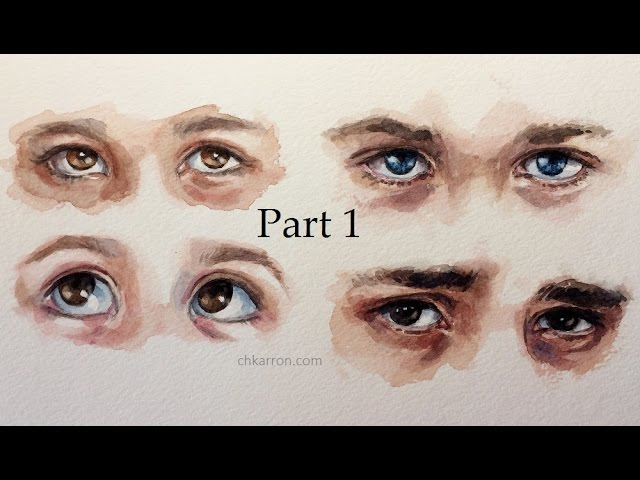 Watercolor sketch Eyes part 1 by Ch.karron