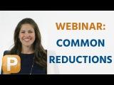 Common Reductions Webinar Feb 13 2015