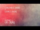 1/2 GR - 75 kg: K. CHALYAN (ARM) df. Z. LEVAI (HUN), 4-3