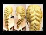 Everyday hairstyle for long hair. Pull Through Braid Tutorial