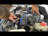 Ford Taunus запуск на карбюраторе от нивы
