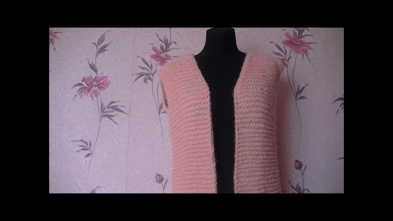 Вязание кардигана узором платочная вязка