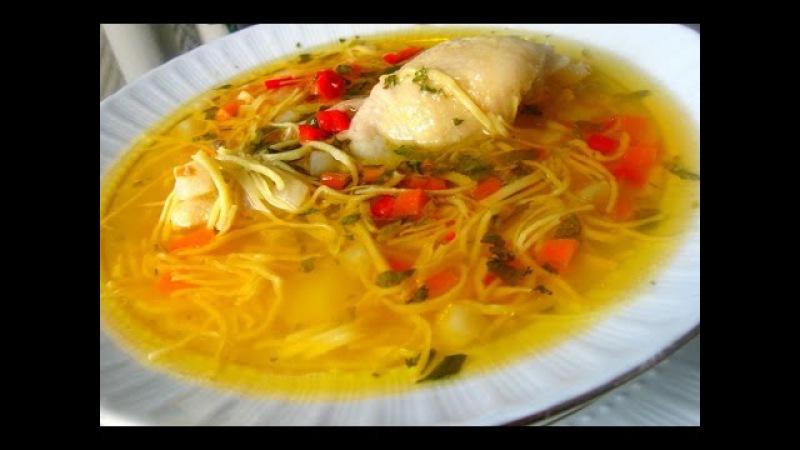 Детское меню - Суп куриный с домашней лапшой
