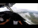 Learjet 35 Landing at SKRG Rionegro Colombia IMC on approach