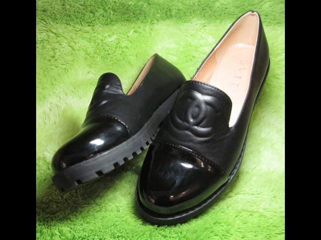 Женские туфли-броги с лаковым носком 66-11 MT - интеренет-магазин