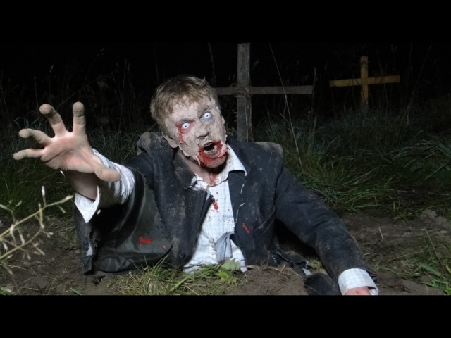 The walking dead sсary prank