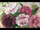 ПИОНЫ -- ЖИВОПИСЬ ШЕРСТЬЮ / FELTING of PICTURE / HOW TO MAKE A PICTURE of WOOL