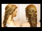 Prom wedding hairstyles for long hair. Fishtail and mermaid braid