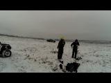 Стелс леопард 2016 обкатка. ( syma x8 camera test ) вейкборд, на тюбинге и сноуборде за пикапом