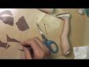 Как сделать туфли для куклы. МК от Дианы Эффнер. Ч. 3 Подошва для туфель - YouTube