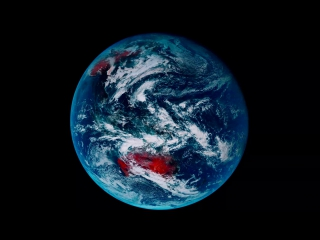 Один день земли с геостационарного погодного спутника himawari-8 [timelapse]