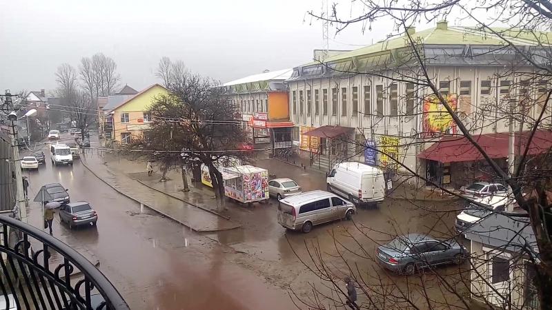 Перша весняна гроза в Перегінську 23.03.17