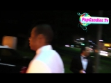 Beyonce Jay Z with Solange Knowles depart 2015 Vanity Fair Oscar Party LA