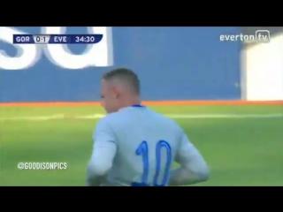 Первый гол Руни после возвращения в «Эвертон»