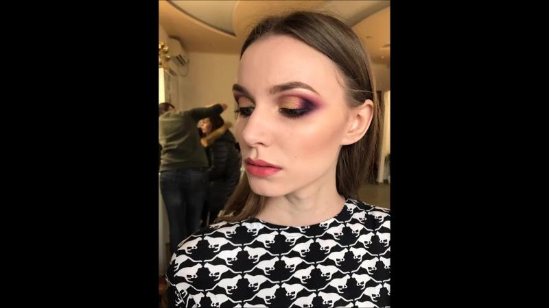 Яркий макияж с пигментами визажист херсон визаж пигменты makeupbyme