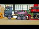 RC Truck Excavator CATERPILLAR transport! R/C mercedes truck ACTION!