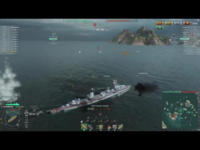 World of warships Ленинград Быстрее только пули Z1ooo World of Warships