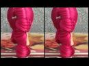 Высокий хвост с плетением ★ Конский хвост