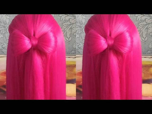 Самый лёгкий бант из волос / прическа бантик / Light bow of hair / hair bow