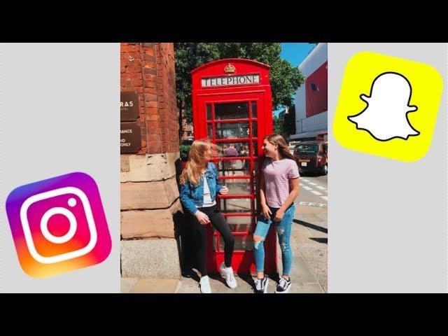 Kenzie's first day in London ft. JohnnyLauren | Snapchat/Instagram