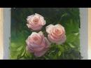 Живопись маслом: Розы в лучах солнца . Художник Алексей Епишин