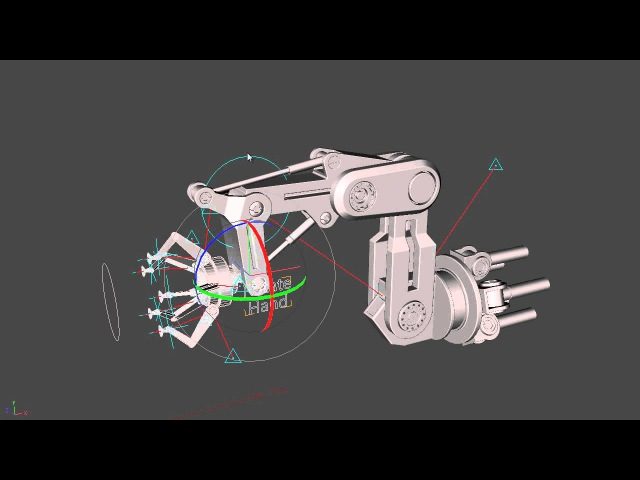 Iron Man style robotic arm - IK rig test - CD IK and CD Contraints