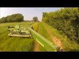 John Deere Mowing with Krone mower