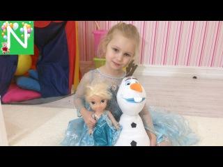 FROZEN Холодное Сердце Поющая кукла ЭЛЬЗА С МИКРОФОНОМ Олоф Обзор