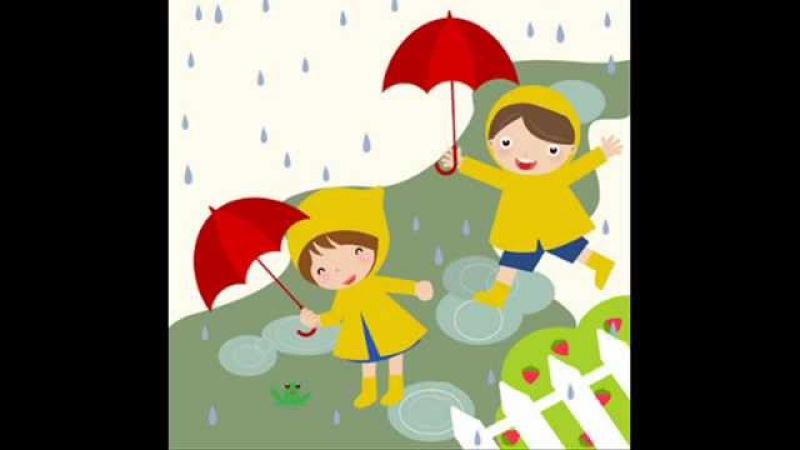 Pitter Patter Raindrops Kindergarten Nursery Rhyme