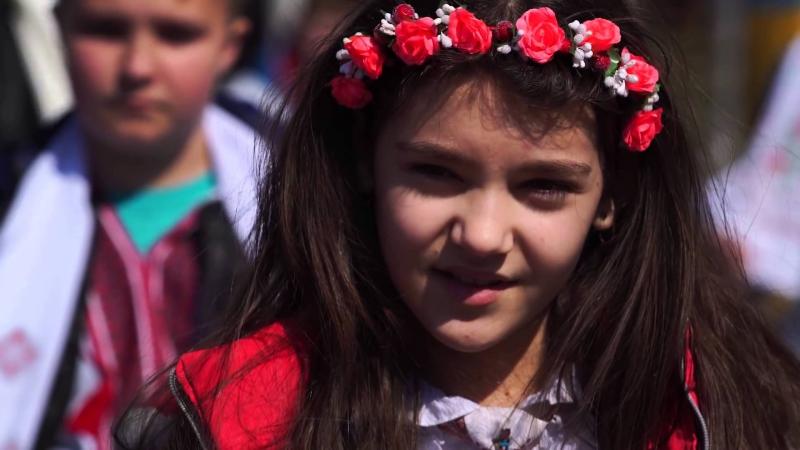 Исполнение Гимна Украины учениками г.Бровары,Киевская обл., 1 место