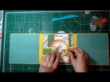"Mini album-photo phrame, tutorial by Tatiyana Shirnina⁄ Echo Park paper ""Dino Friends"""