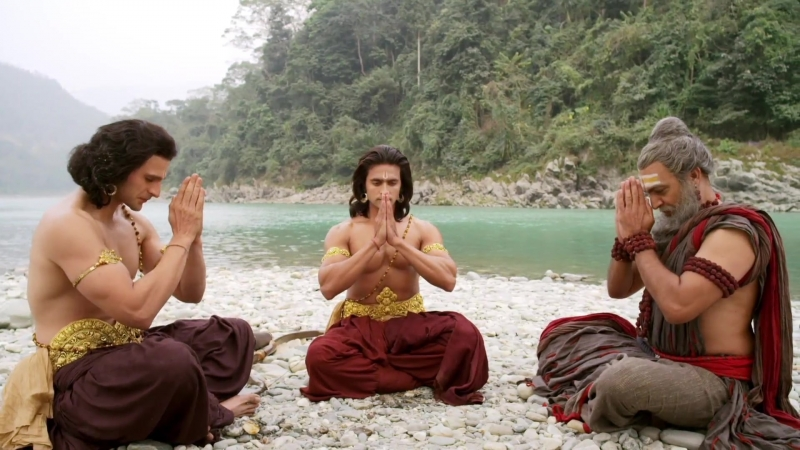 Мудрец Вишвамитра рассказывает Шри Раме и Лакшмане о Силе Сериал СиР