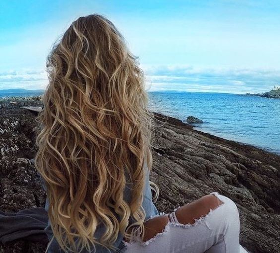 Как сделать волосы на море 326