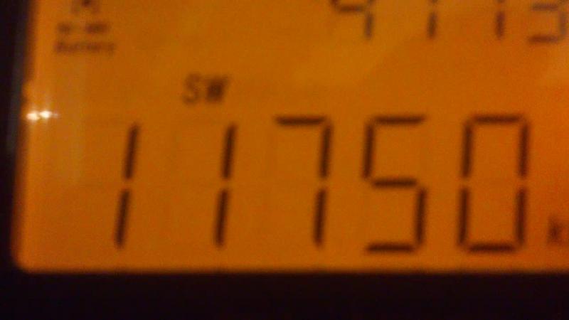 11735KhZ-Zanzibar Broadcasting Corporatio(Dole) 50w~7493km 11750 kHz-SRI LANKA BC( Trincomalee)~7125km