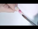 Рог единорога Модный дизайн ногтей _ Наращивание формы стилет и градиент радуга