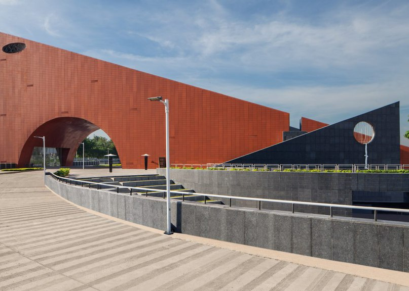 Archohm completes wedge-shaped socialism museum in northern India