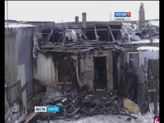 Крупный пожар унёс жизни двух детей в п.Дубки