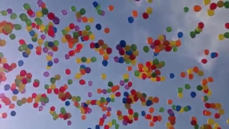 Воздушные шары в небе)