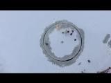 Ледяная карусель или лодочный мотор зимой!)))