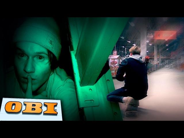 Жесткая ночь в закрытом гипер маркете OBI 24 hours in OBI