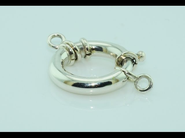 Handmade silver spring ring claps
