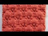 Плотный узор с элементами ажура Вязание спицами Видеоурок 112