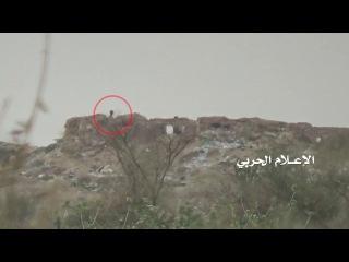 شاهد قنص جندي سعودي في موقع الكرس السعودي بجيزان المحتلة