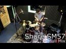 Shure SM57 Audix i5 comparison snare drum