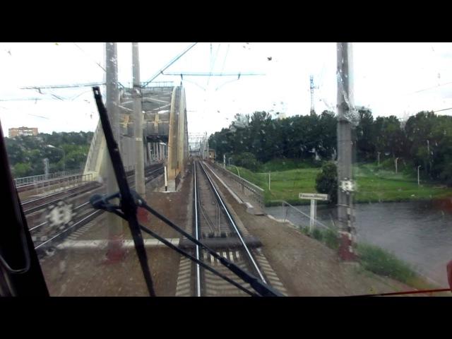 [HD] Сходня - Москва из кабины электровоза ЧС200
