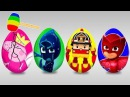 Яйца с сюрпризом мультик. герои в масках. Свинка Пеппа. Робокар. Киндер сюрприз. Su...