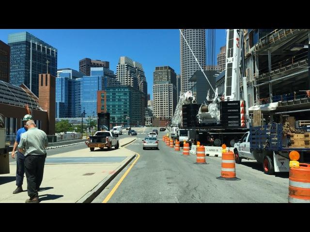 Driving Downtown - Boston 4K - USA