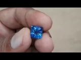 5,60TCW Natural Sparkling perfect Cushion cut Ceylon Blue Sapphire