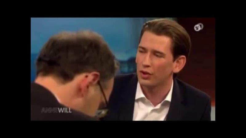 Junger östereichischer Außenminister spricht Klar Text.